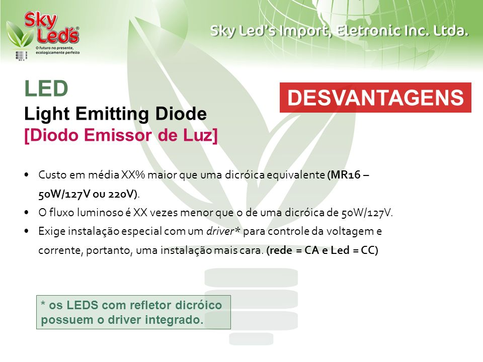 LED Light Emitting Diode [Diodo Emissor de Luz]